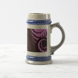 Purple Digital Abstract Beer Stein