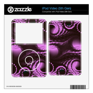 Purple Digital Abstract Decal For iPod Video 5G