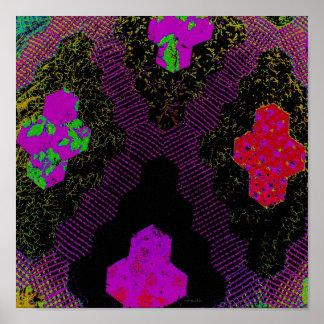 Purple Digital Realism Quilt Poster