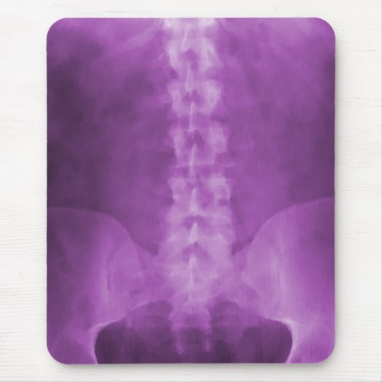 Purple Digital  X-Ray  Art Mousepad
