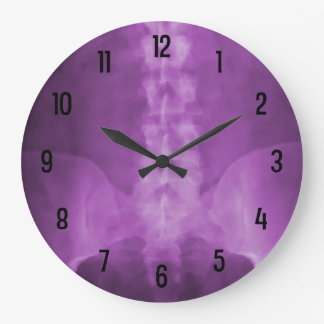 Purple Digital X-Ray Art Wall Clock