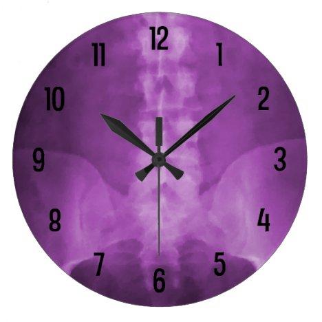 Purple Digital X-Ray Art Wall Clock
