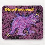 Purple Dino-Powered! Mouse Pad