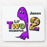 Purple Dinosaur 2nd Birthday Mouse Pad