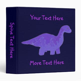 Purple Dinosaur Binder