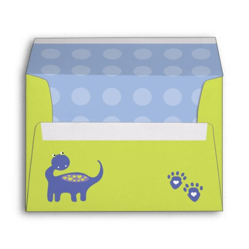 Purple Dinosaur Birthday with Dots Envelopes