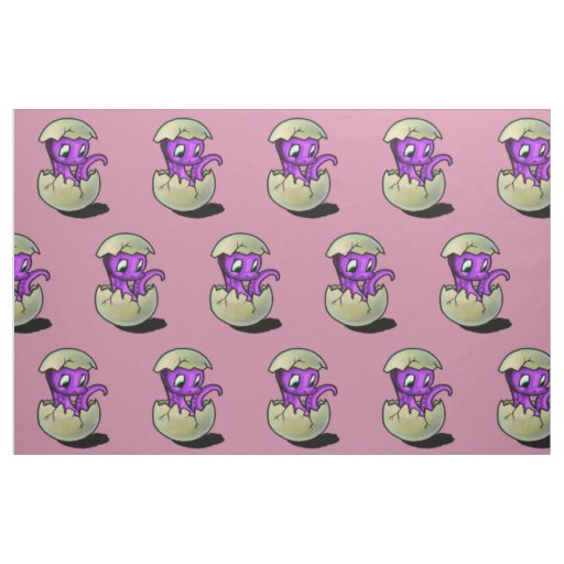 Purple dinosaur hatchling fabric for Purple dinosaur fabric