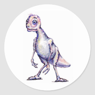 Purple Dinosaur Stickers