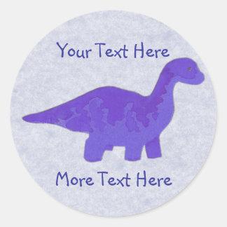 Purple Dinosaur Stickers