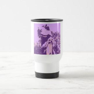 Purple Dinosaur T-Rex Travel Mug