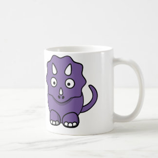 Purple Dinosaur - White Coffee Mug