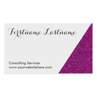 Purple Dipped Glitter Networking Business Cards