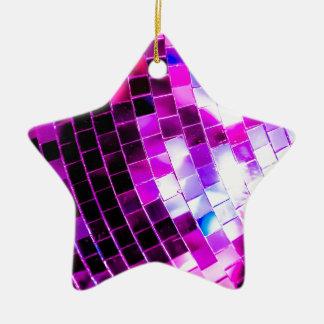 Purple Disco Ball Ceramic Ornament
