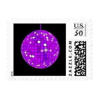 Purple Disco Ball Postage