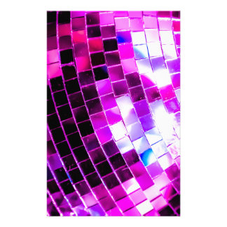 Purple Disco Ball Stationery