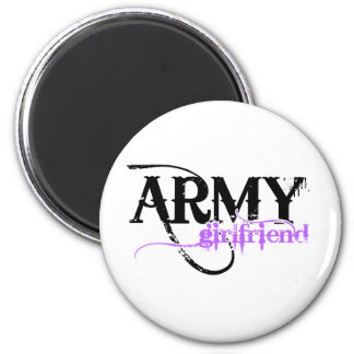 Purple Distressed Lettering Army Girlfriend Magnet