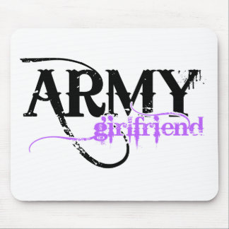 Purple Distressed Lettering Army Girlfriend Mouse Pad