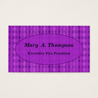 Purple distressed pattern business card