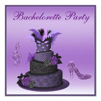 Purple Diva Cake, Sparkle High Heels Bachelorette Card