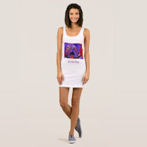 Purple Dog Sleeveless Dress