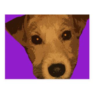 Purple Doggie Postcard