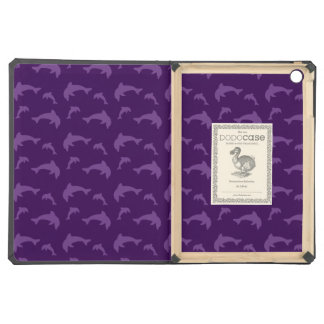 Purple dolphin pattern iPad air case