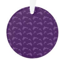 Purple dolphin pattern ornament