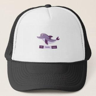 Purple Dolphin Trucker Hat