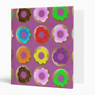Purple Donut Lot 3 Ring Binder