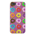 Purple Donut Lot Cover For iPhone 5