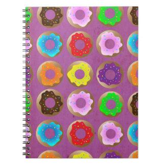 Purple Donut Lot Spiral Notebook