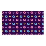 purple donut pattern business card templates