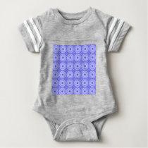 purple dot pattern baby bodysuit
