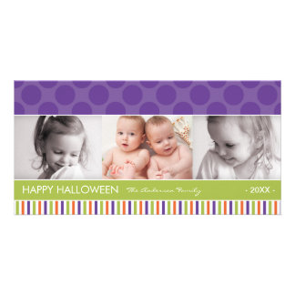 PURPLE DOTS | HALLOWEEN PHOTO CARD