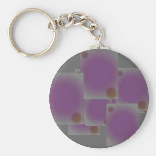 purple dots keychain