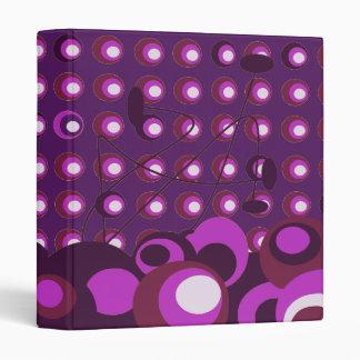 purple dots retro binder