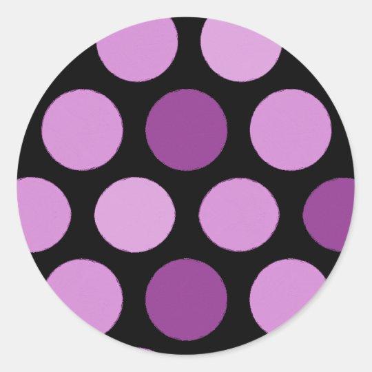 Purple Dots Stickers
