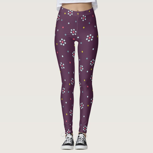 Purple Dotted Flower Pattern