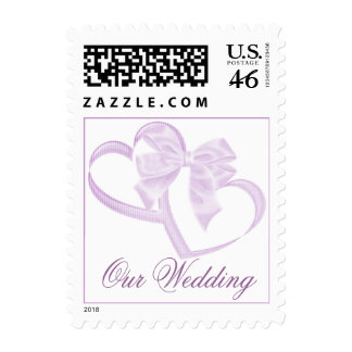 Purple Double Heart Stamps