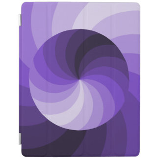 Purple Double Swirl Design iPad Cover