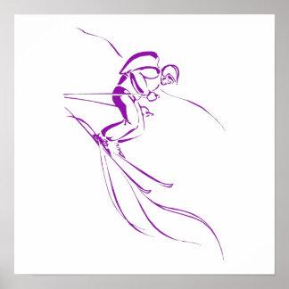 Purple Downhill Print