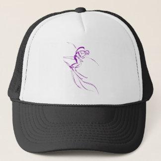 Purple Downhill Trucker Hat