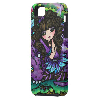 Purple Dragon and Fairy Fantasy Art iPhone Case iPhone 5 Covers