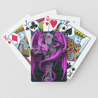 Purple Dragon Bicycle Playing Cards