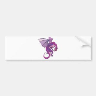 purple dragon car bumper sticker