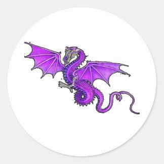 Purple Dragon Classic Round Sticker