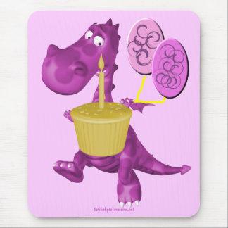 Purple Dragon Cupcake Balloons Mousepad