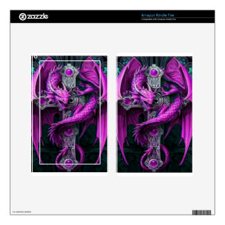 Purple Dragon Decals For Kindle Fire