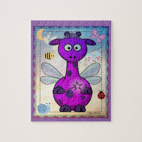 Purple Dragon Fairy Puzzle