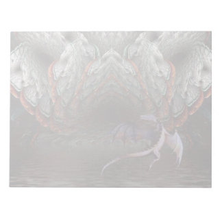 Purple Dragon Flies in front of a illuminated cave Notepad